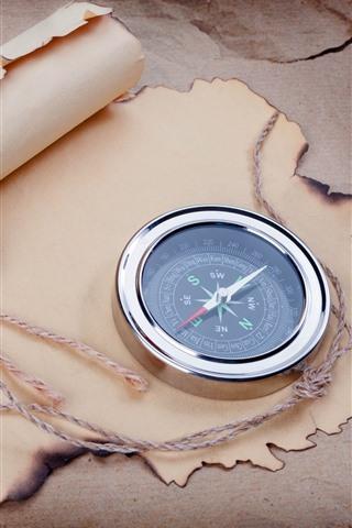 iPhone Wallpaper Compass, paper