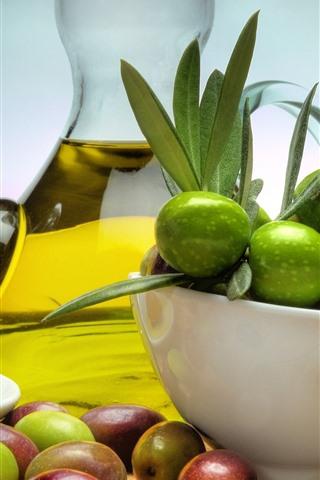 iPhone Wallpaper Fruits, bowl, oil
