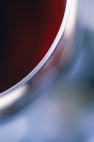 iPhoneの壁紙 ガラスカップの上面図、ワイン、かすんでいる