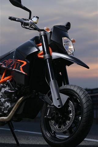 iPhone Wallpaper KTM motorcycle, dusk