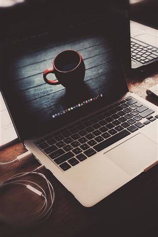 iPhone Papéis de Parede Macbook, Apple, xícara, nebuloso