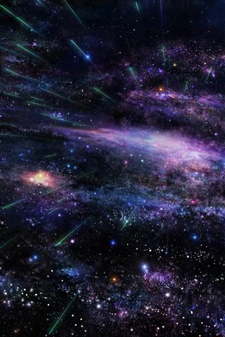 iPhone Wallpaper Stars, space, comet