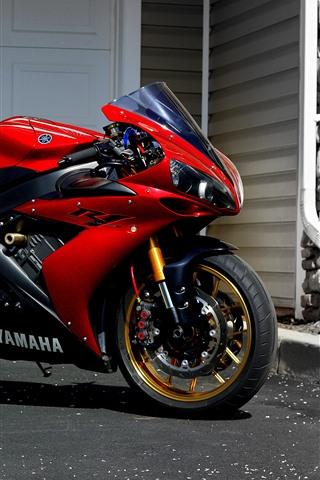 iPhone Wallpaper Yamaha red motorcycle