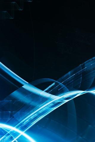 iPhone Обои Абстрактный канал синего света