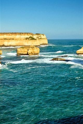 iPhone Wallpaper Australia, rocks, sea, nature scenery