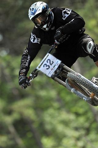 iPhone Wallpaper Biking, race, downhill