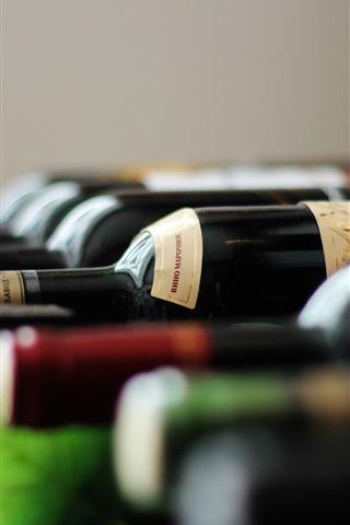 iPhoneの壁紙 ボトル、ワイン、かすんでいる