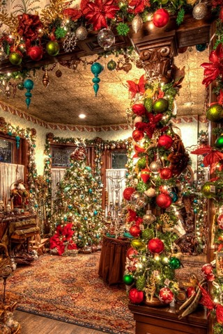 iPhone Wallpaper Christmas, interior, decoration, colorful