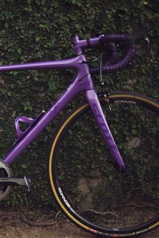 iPhone Wallpaper Purple bike