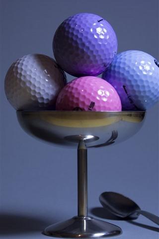 iPhone Papéis de Parede Algumas bolas de golfe