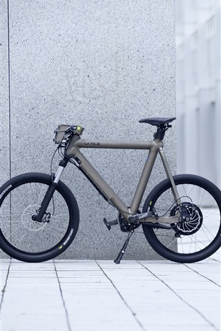 iPhone Wallpaper Bike, wall, street, city