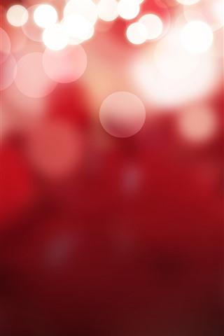 iPhone Papéis de Parede Círculos de luz brilhante, fundo vermelho