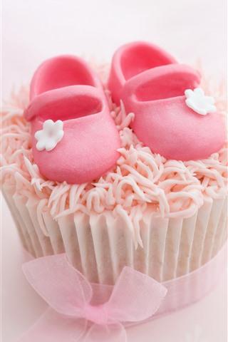 iPhone Wallpaper Cake, sugar shoes