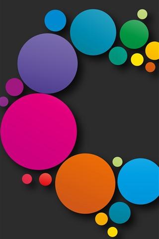 iPhone Hintergrundbilder Bunte Kreise, abstraktes Design