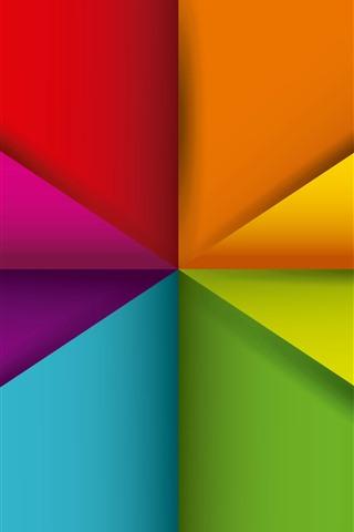 iPhone Обои Геометрия фигур, аннотация, красочный, треугольник