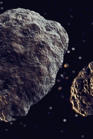 iPhone Papéis de Parede Meteoros, rochas, espaço
