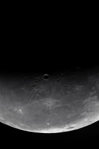 iPhone Papéis de Parede Lua, espaço, fundo preto