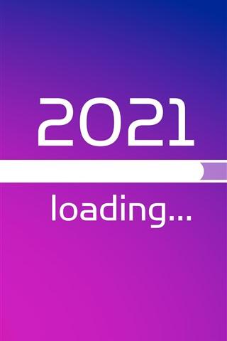 iPhone Fond d'écran Nouvel An 2021, chargement, image créative