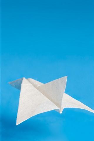 iPhoneの壁紙 紙面、青い背景