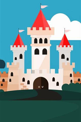 iPhone Papéis de Parede Imagem vetorial, castelo, árvores