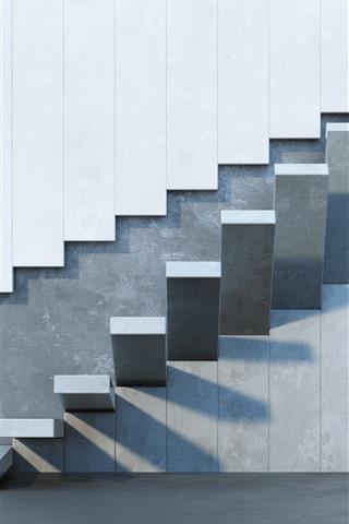 iPhoneの壁紙 壁、階段