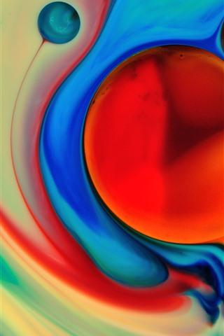iPhone Обои Абстрактная краска, красочный, пузырь