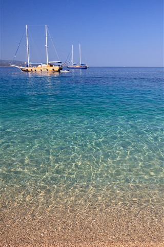 iPhone Wallpaper Croatia, yachts, sea, coast