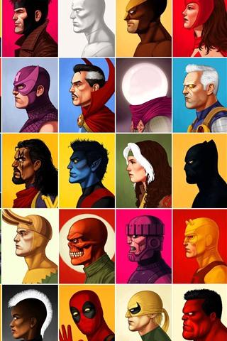iPhone Wallpaper Marvel superhero, anime, face, side view