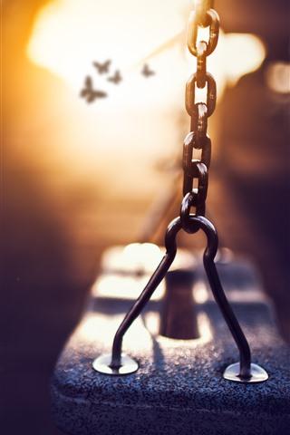 iPhone Wallpaper Swing, sunshine, glare