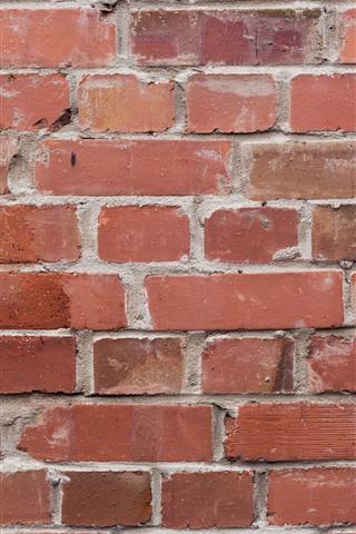 iPhone Papéis de Parede Parede, tijolos, textura, vermelho