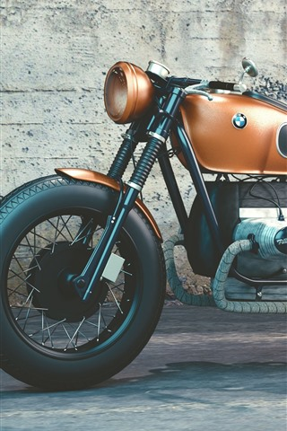 iPhone Wallpaper BMW R80 motorcycle
