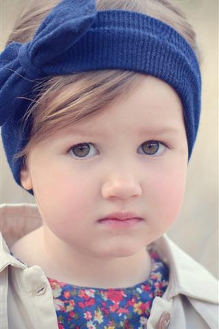 iPhone Papéis de Parede Menina bonitinha, criança, retrato