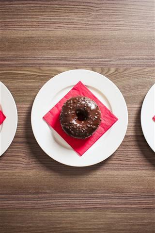 iPhone Wallpaper Three donuts