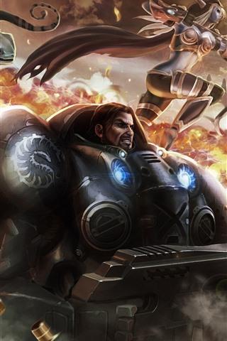 iPhone Wallpaper Warcraft, Heroes of the Storm, warrior, war