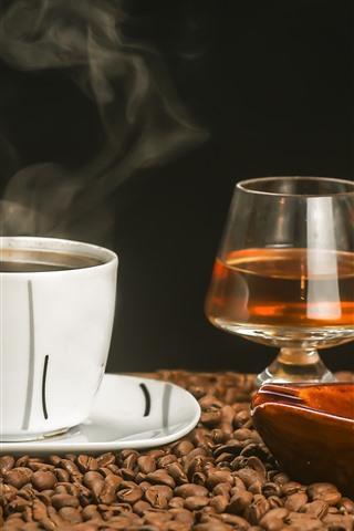 iPhone Papéis de Parede Café, chá, charuto, xícara