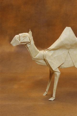 iPhone Обои Бумажный верблюд, оригами