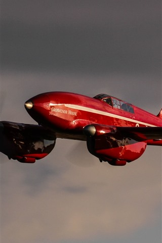 iPhone Wallpaper Red aircraft, sky