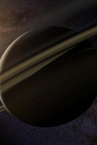 iPhone Papéis de Parede Saturno, anel, estrelas, sol, espaço