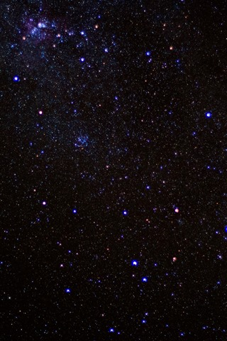 iPhone Wallpaper Many stars, sky, space, night