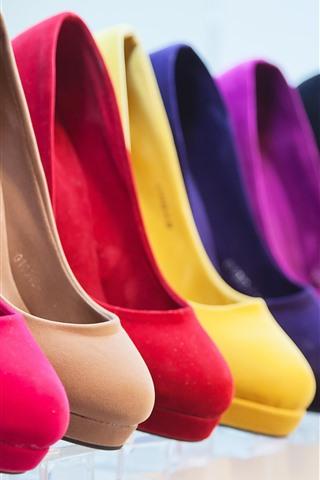 iPhone Wallpaper Different colors heels