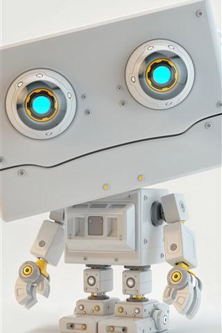 iPhone Обои Робот, 3d дизайн картинки