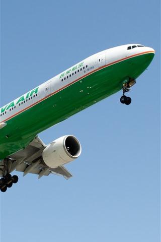 iPhone Обои Boeing пассажирский самолет, посадка, небо