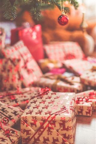 iPhone Hintergrundbilder Weihnachten, Geschenk, dunstig