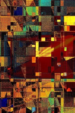 iPhone Обои Красочный, форма, абстрактный дизайн