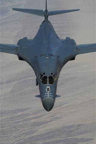 iPhone Wallpaper Lancer B-1B bomber, supersonic, wings, flight