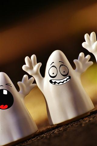 iPhone Papéis de Parede Halloween, fantasma, design criativo