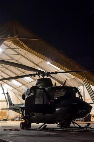 iPhone Обои Вертолет, огни, армия