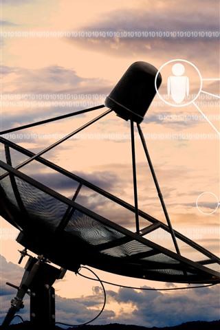 iPhone Обои Радиотелескоп, антенна, цифровая, творческая картина