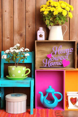 iPhone Hintergrundbilder Süßes Zuhause, Dekoration, Blumen