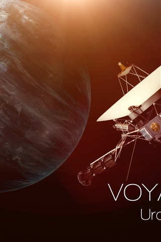 iPhone Обои Уран, Спутник, Вселенная